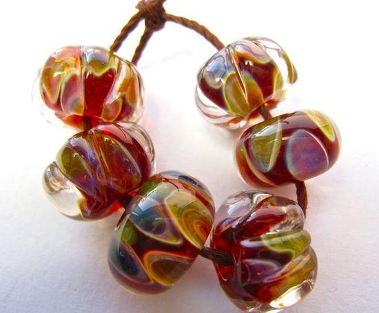 Handmade boro lampwork beads